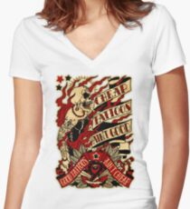 Informative Signs - Cheap tattoo aint good Women's Fitted V-Neck T-Shirt