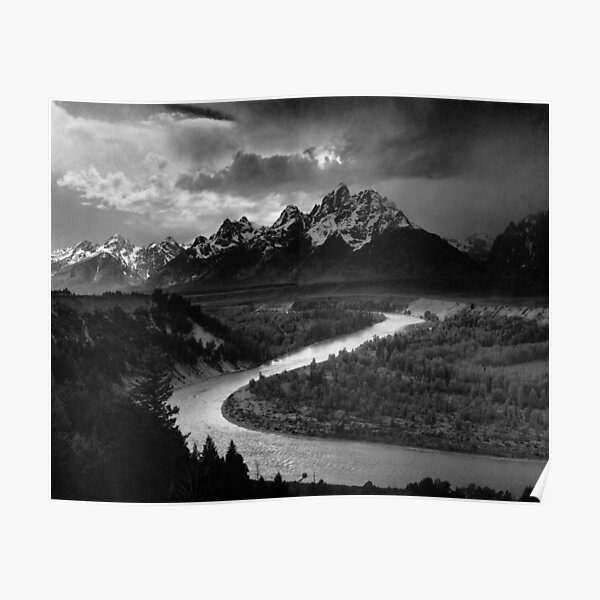 Ansel Adams The Tetons And The Snake River Poster
