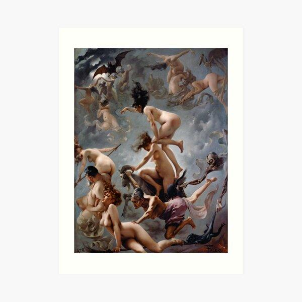 Witches Going To Their Sabbath By Luis Ricardo Falero Art Print