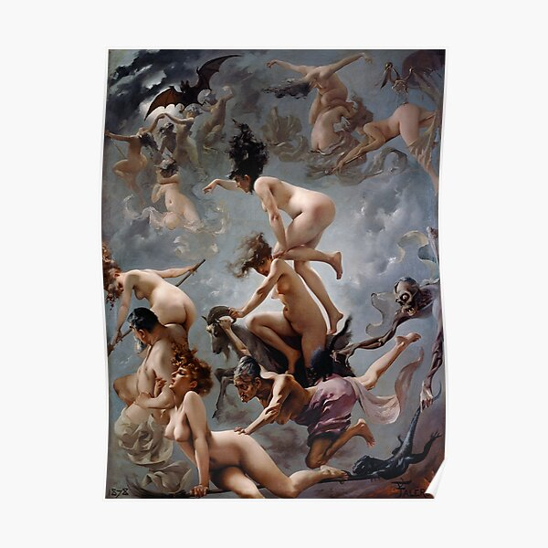 Witches Going To Their Sabbath By Luis Ricardo Falero Poster