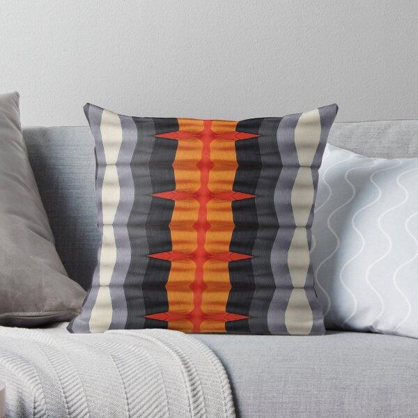 #textile, #design, #pattern, #decoration, art, abstract, illustration, curtain Throw Pillow