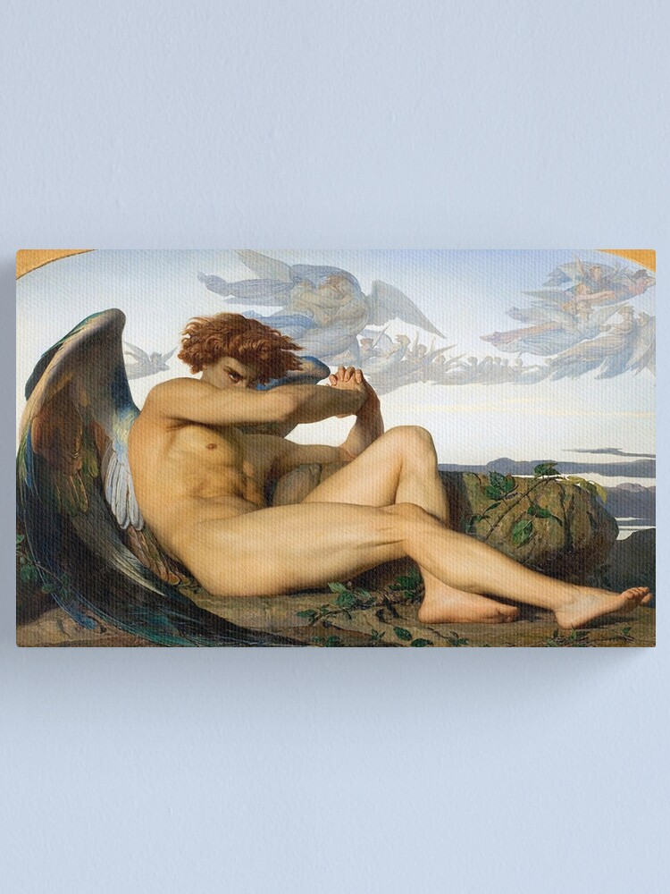 Alternate view of Fallen Angel Alexandre Cabanel Original Canvas Print