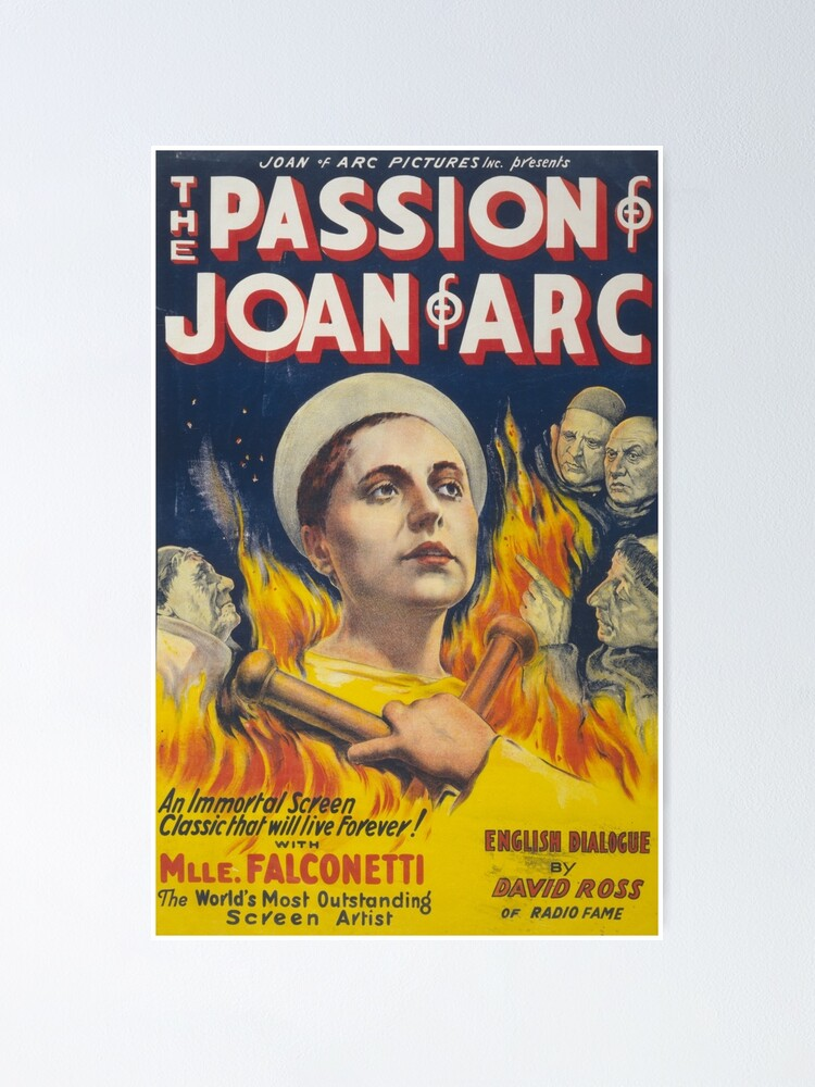 The Passion Of Joan Of Arc Poster By Jonzes Redbubble