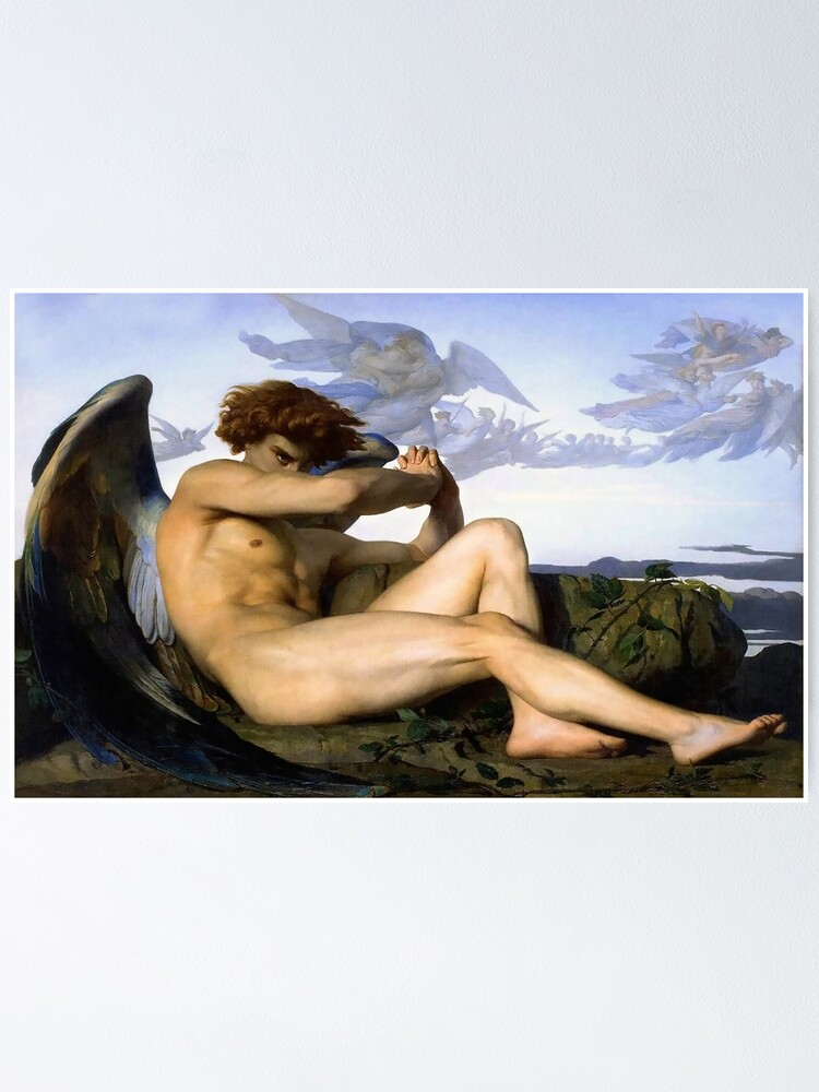 Alternate view of Fallen Angel Alexandre Cabanel Poster