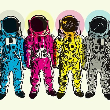CMYK Spacemen by MattFontaine