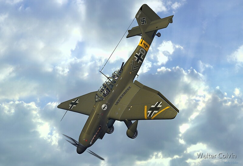 Quot Junkers Ju 87 Stuka Quot Posters By Walter Colvin Redbubble