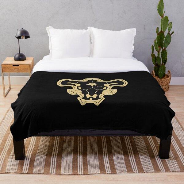 black clover black bulls Throw Blanket