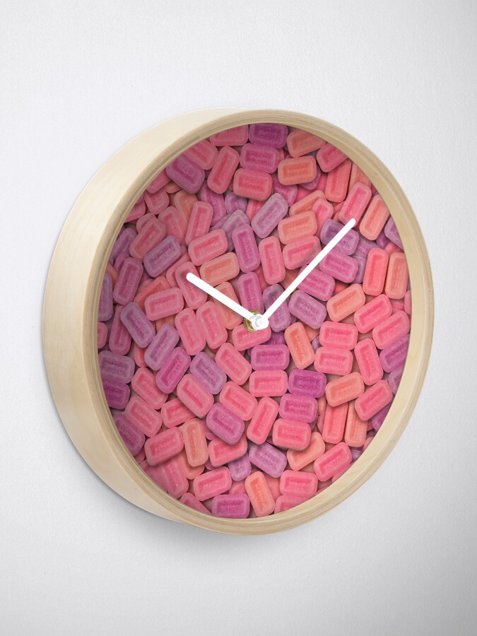 Alternate view of Pez Candy Pattern  Clock