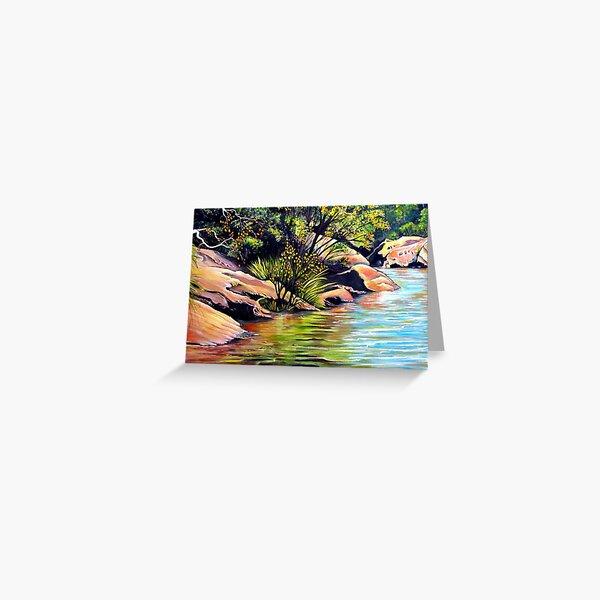 Jellybean Pool, Blue Mountains Greeting Card