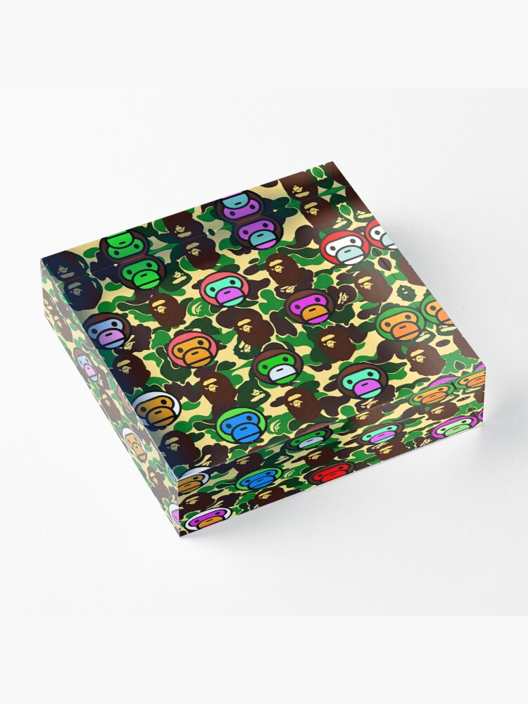 Alternate view of Bape Army Collage Acrylic Block