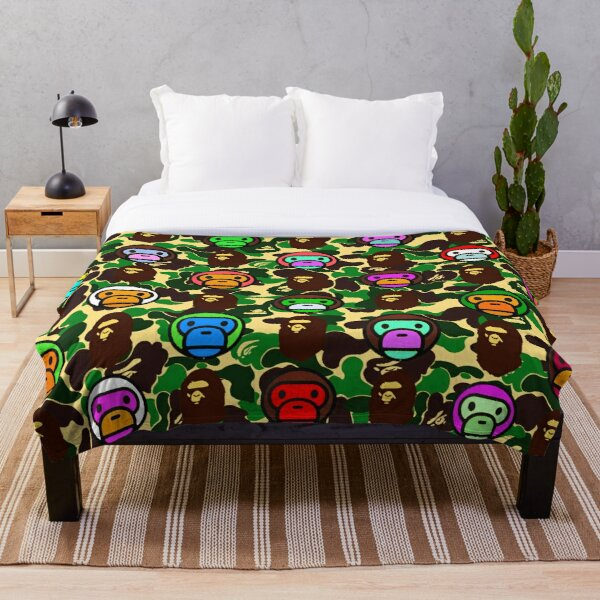 Bape Army Collage Throw Blanket