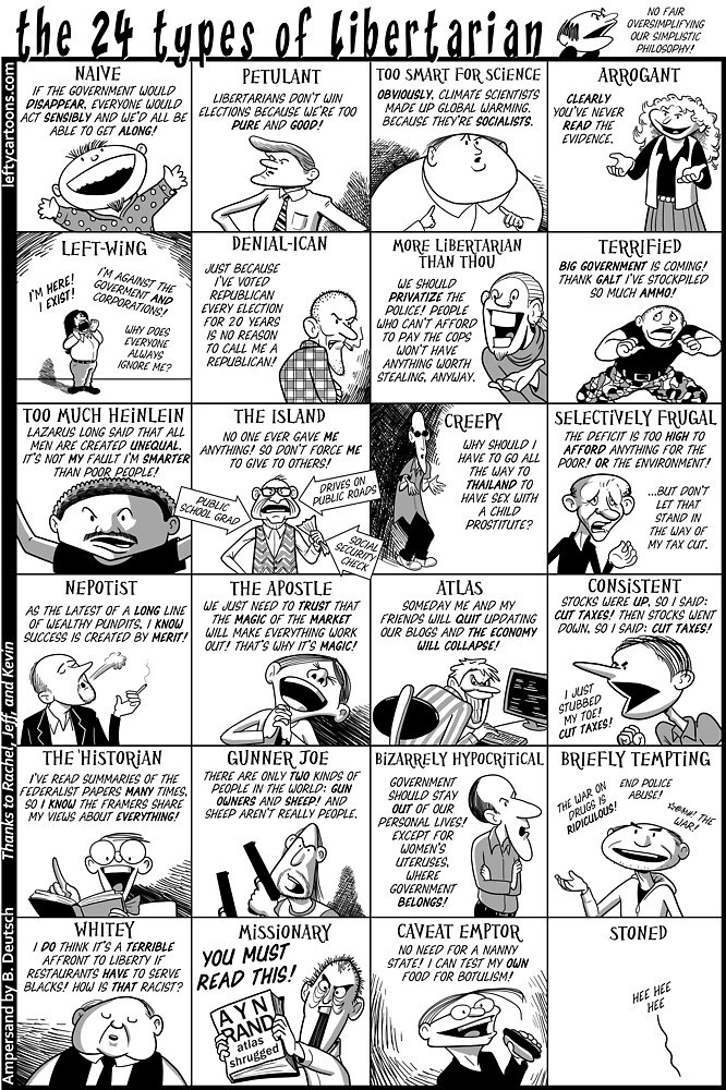 The 24 Types of Libertarian by Barry Deutsch