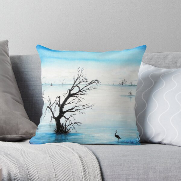 Silent Reflections Throw Pillow