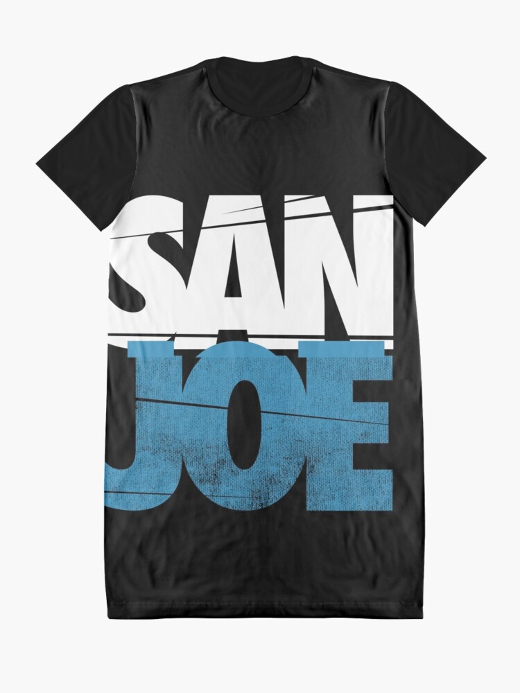 Alternative Ansicht von SAN JOE SHIRT SAN JOSE SHARKS SJ SHARKS STADT 408 SAN JOSE Joe Pavelski FAN ART & MERCH T-Shirt Kleid