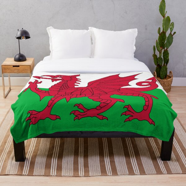 Welsh Flag - Wales Red Dragon Throw Blanket