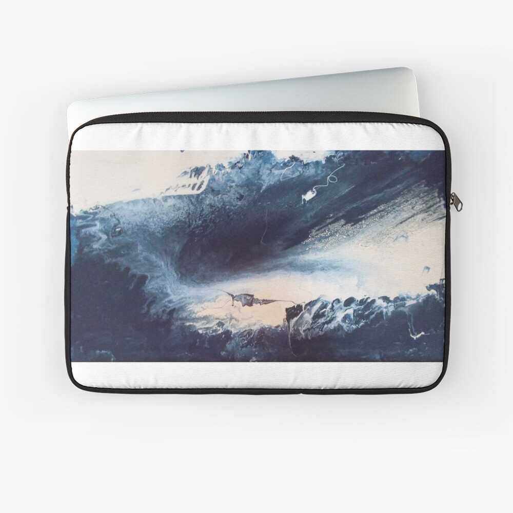 Blue Vision Abstract Laptop Sleeve