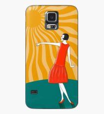 Die Frau, die in der Sonne tanzt Hülle & Klebefolie für Samsung Galaxy