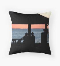 Evening silhouette Throw Pillow