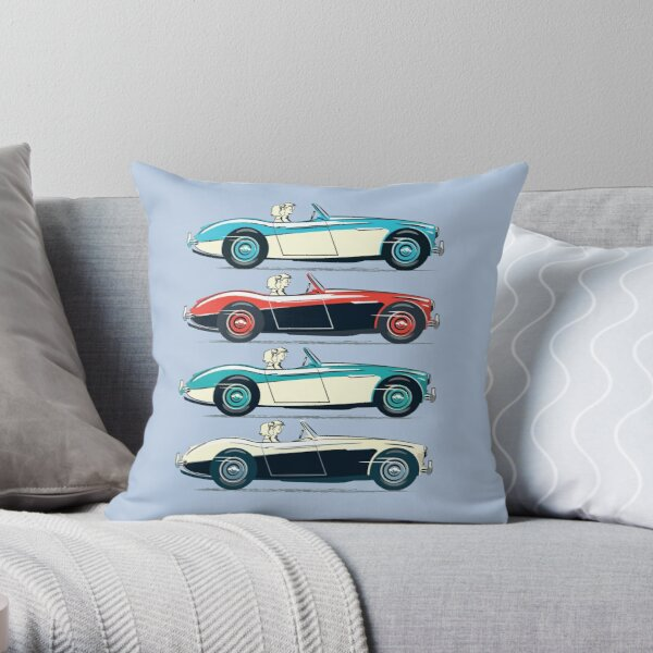 Austin Healey 3000 and 100/6.  Throw Pillow