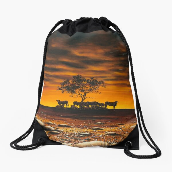 Another Day in Paradise Drawstring Bag