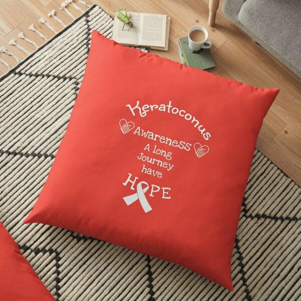 Hope Awareness KC eyes - Awareness Eyes Ribbons - Awareness Eyesight - Keratoconus Treatment Awareness Floor Pillow