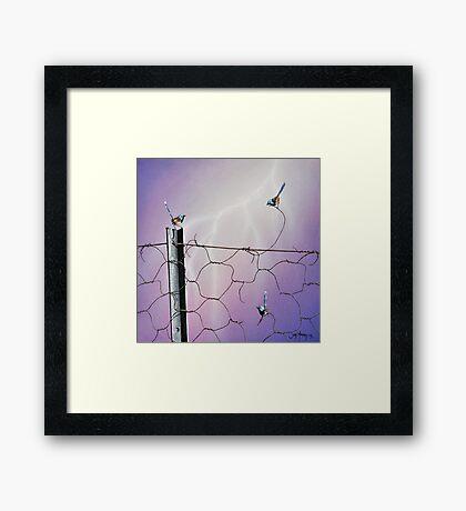Defying Electrifying Framed Print