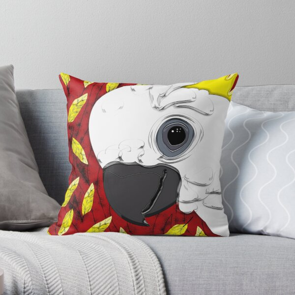 Cheeky Cocky Throw Pillow