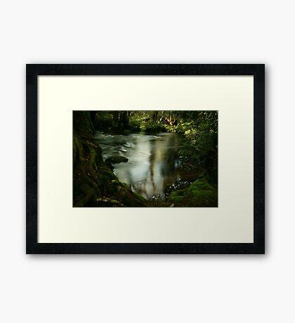 Twists and swirls on Pencil Pine Creek Framed Print