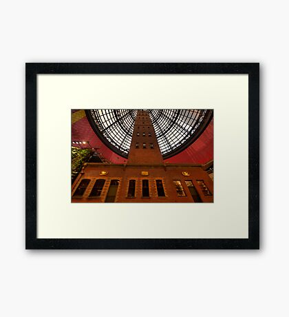 Coops Shot Tower - Angle #6 (colour), Melbourne - The HDR Experience Framed Print