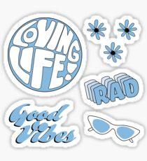 Light Blue Sticker Pack - hübsch und inspirierend! Sticker