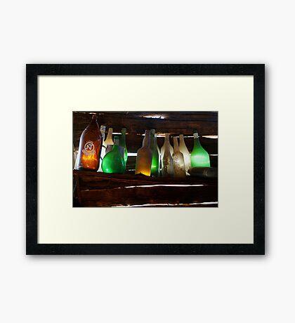 Bottles in the Shed  Framed Print