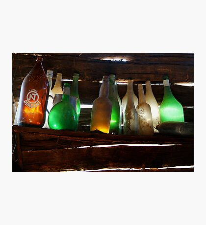 Bottles in the Shed  Photographic Print