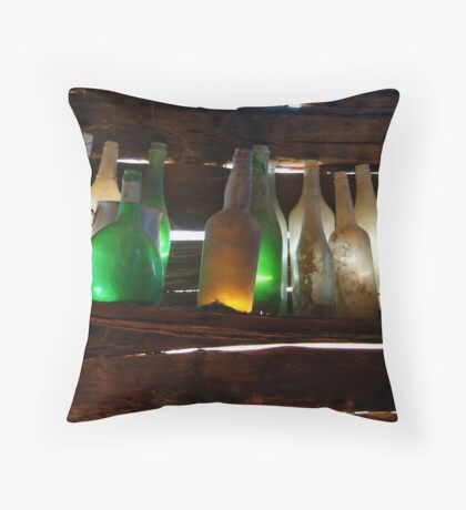 Bottles in the Shed  Throw Pillow