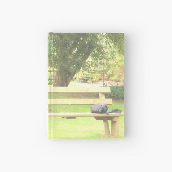 Empty bench Hardcover Journal