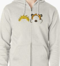 Must Read Book Covers Calvin And Hobbes Zipped Hoodie