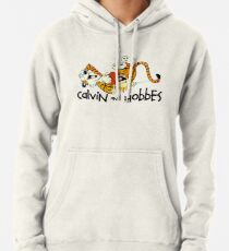 Must Read Book Covers Calvin And Hobbes Laughing Pullover Hoodie