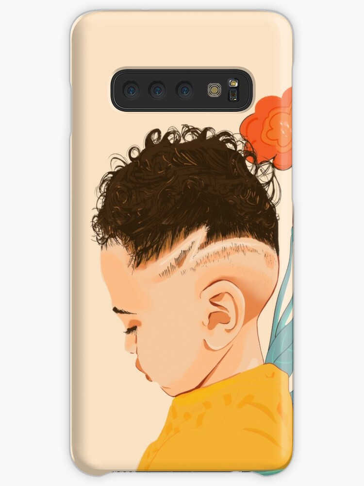 New Curly Hair Boy Case Skin For Samsung Galaxy By Mimietrouvetou Redbubble