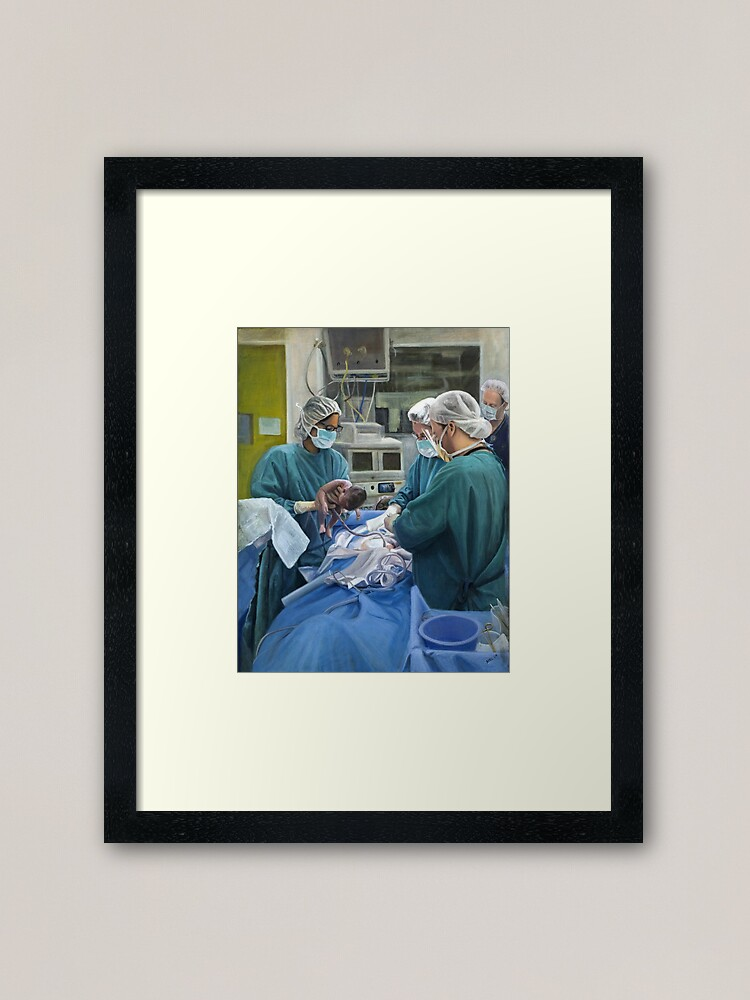 Alternate view of A New Life - Oil on canvas Framed Art Print