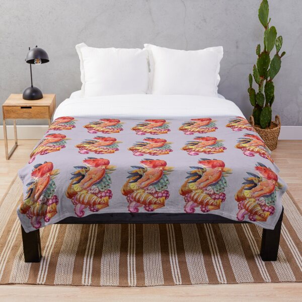 Seafood Throw Blanket