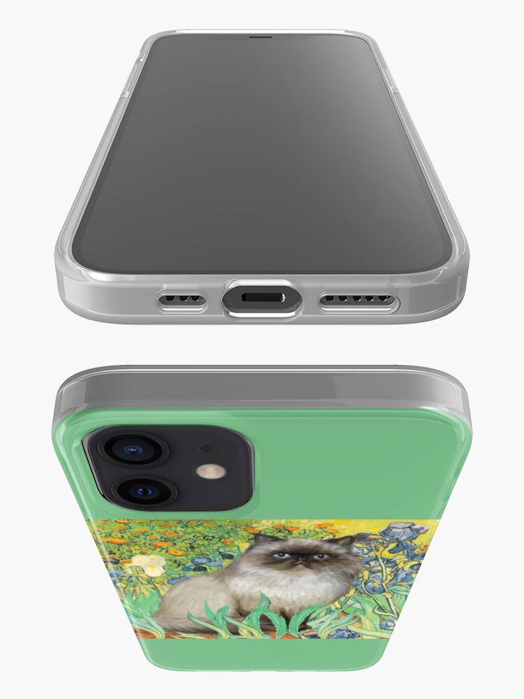 Alternate view of Famous Art:  Irises (Van Gogh)-adapted with a Himalayan Cat iPhone Case & Cover