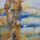 Jamie - at the beach by scallyart