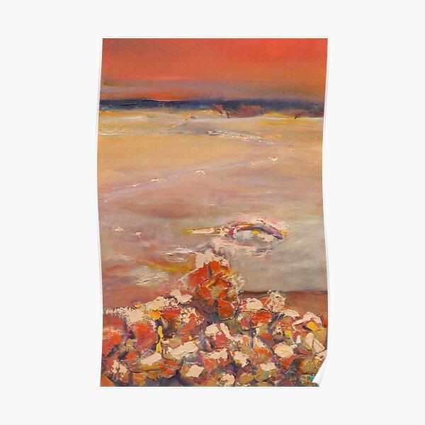 Sunset Glory- Lake King, Western Australia Poster