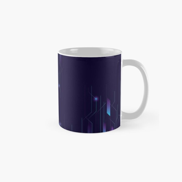 Abstract Background with Futuristic Style Classic Mug