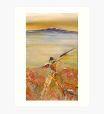 Figure in the Landscape-Lake King Art Print