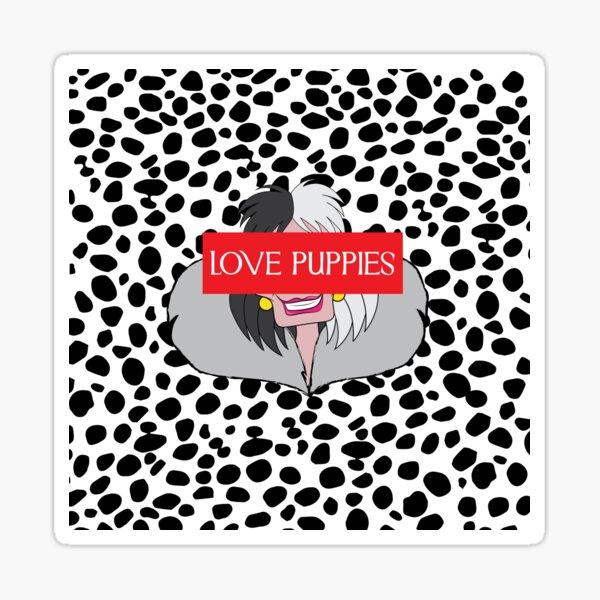I love puppies Sticker
