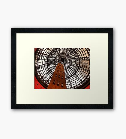 Open Star Bay Doors - Coops Shot Tower Angle 5, Melbourne Framed Print