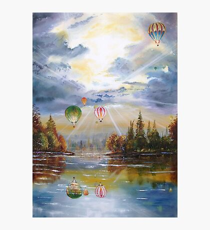 Hot air balloons. Photographic Print