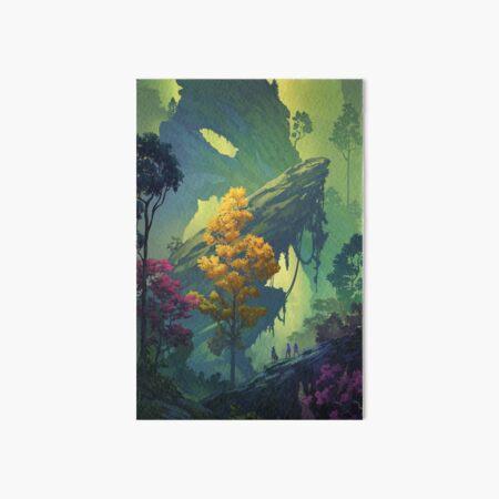 Vegetal Chasm Art Board Print