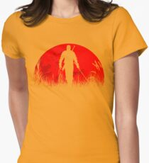 Red moon Womens Fitted T-Shirt