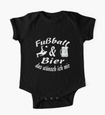 Fußball Bier Geschenk Funny Lustig bild Baby Body Kurzarm